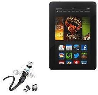Cabo para Kindle Fire HDX 7 (3ª geração 2013), BoxWave [MagnetoSnap AllCharge] Cabo de carregamento magnético USB tipo C M...