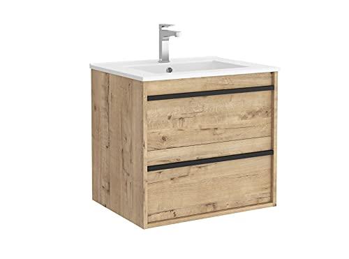 Salgar Attila Conjunto Mueble de baño, Tableros de partículas, Roble ostippo, 60 cm