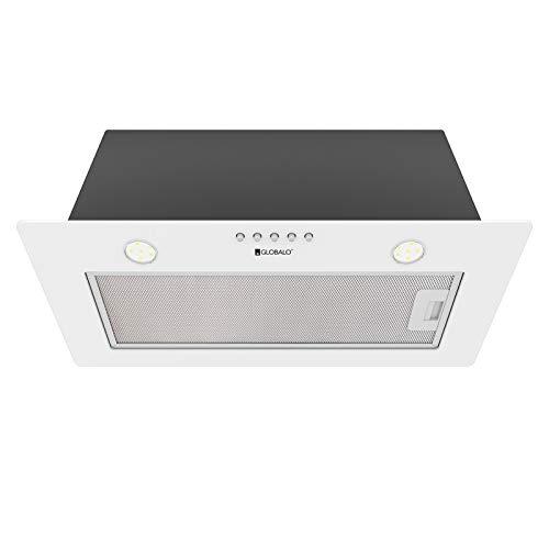 Campana extractora empotrable Aprico 60.1, para debajo del armario, ventilador de cocina, campana extractora, campana extractora integrada, color blanco