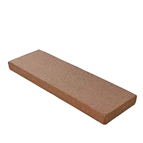 Sincere Cojín de espuma de alta densidad para tapicería de tamaño personalizado, cojín de asiento de banco, cojín de asiento de patio, sofá interior, cojín de ventana de bahía, cojín de banco