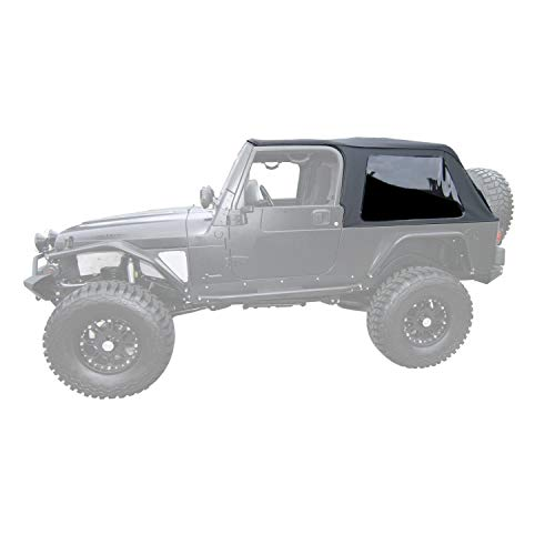 RAMPAGE PRODUCTS 109635 Frameless Trail Top for 2004-2006 Jeep Wrangler LJ Unlimited, Black Diamond Sailcloth w/Tinted Windows