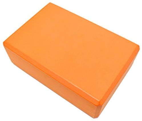 Jilibaba Bloques de gimnasio de espuma de ladrillo de entrenamiento de ejercicio conjunto de ejercicios de fitness herramienta Yoga Bolster almohada cojín estiramiento-naranja 2PCS