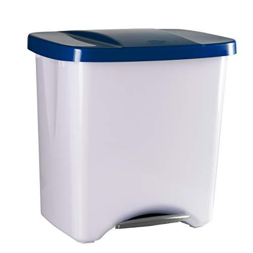Denox Cubo Basura ecológico, Azul y Gris Claro, Centimeters, 50
