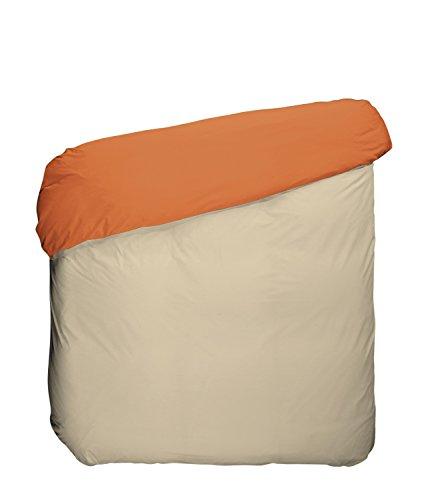 Play Basic Collection Housse de Couette, algodón-poliéster, Orange Kaki et Lin, 220 x 270 x 3 cm