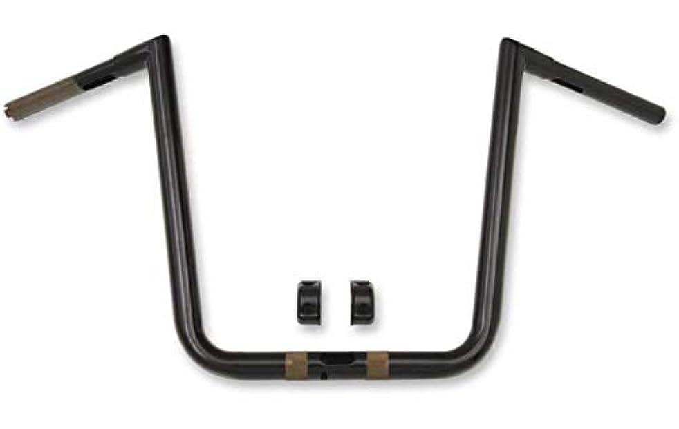 LA Choppers LA731263B 1-1/4in. Ape Hanger Hefty Twin Peaks Handlebar - 13in. - Gloss Black, Handle Bar Size: 1-1/4in., Color: Black