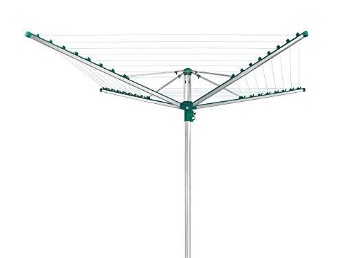 Leifheit Linomatic 500 Comfort Tendedero, Verde Metálico, 50 m