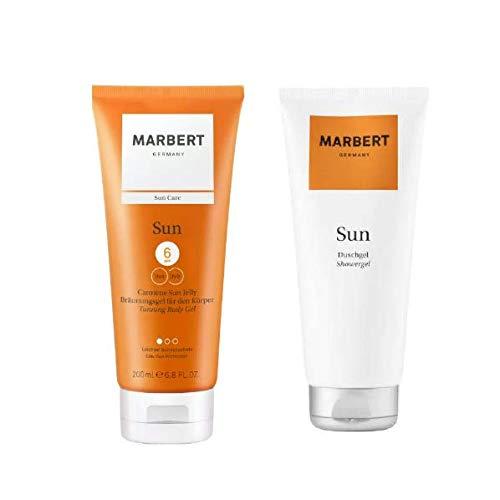 Marbert Sun Care Carotene Sun Jelly Bräunungsgel 200 ml & Duschgel 200 ml