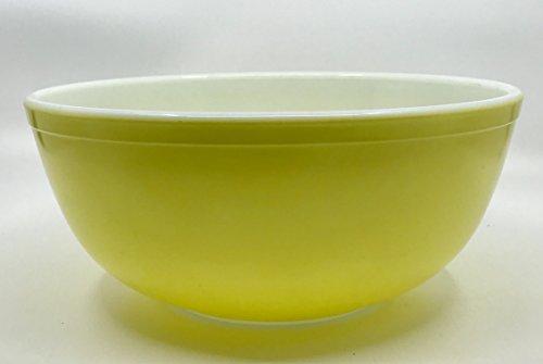 Vintage Pyrex ' YELLOW ' 4 Quart Mixing Batter Nesting Bowl #404