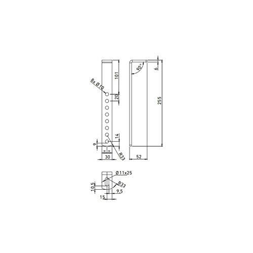 Deichselbox Daken Blackit L 750x300x355mm inkl. Vertikal Halter Werkzeugkasten Anhänger Staukiste - 4