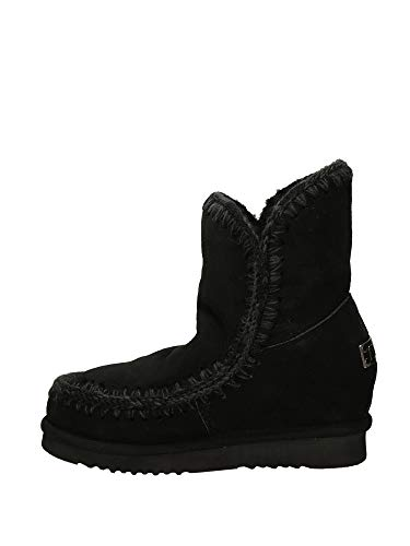 MOU Eskimo Inner Wedge Short Black, bota para mujer Mou, 38