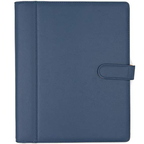 Padfolio - Resume Portfolio Folder - PU Leather Business Portfolio Business Card Holder,File Pockets,Expandable Document Organizer Writing Pad.
