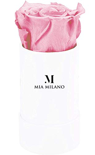 Mia Milano Rosenbox mit Infinity Rosen I Rosenbox mit einer echten Rose I 3 Jahre haltbar