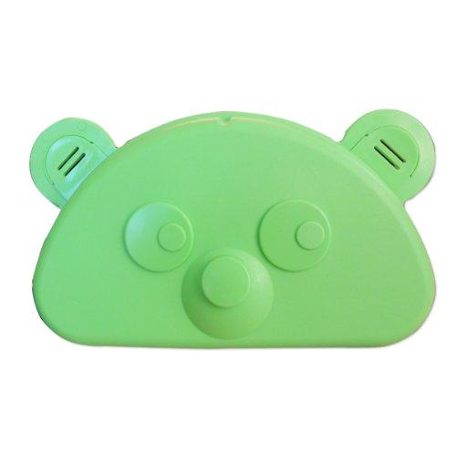 Kinderbrottasche Teddy in grün aus Kunststoff Maße: ca. 18 x 11 x 6 cm