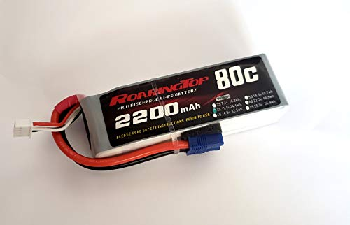 RoaringTop LiPo Battery Pack 80C 2200mAh 3S 11.1V with EC3 Plug for RC Car Boat Truck Heli Airplane