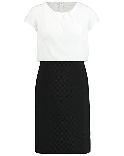 Taifun Damen 2-in-1 Kleid Figurbetont, Figurumspielend Offwhite Gemustert 44