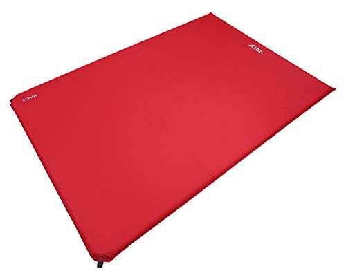 Andes Explora 5cm Double Self Inflating Camping Mat/Mattress Red