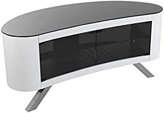 AVF Affinity Plus - Bay Plus 1150 Curved TV Stand (Gloss White)