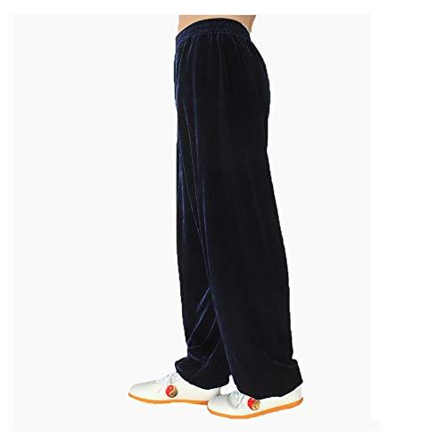 Herbst und Winter Taiji Hose,Qigong Wing Chun Hose,Tai Chi Trainingshose, Shaolin Hose,Geeignet für Mnner und Frauen, Tgliche BewegungNavy Colour-M