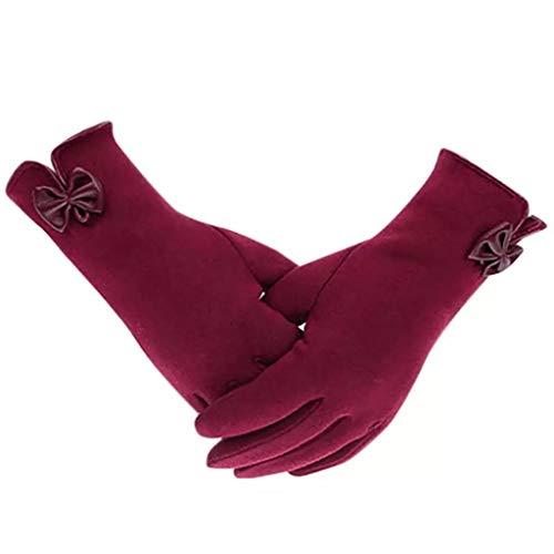 Guantes de invierno para mujer con pantalla táctil de forro polar grueso, cálido, cómodo, forro de piel suave, térmicos
