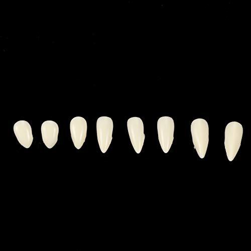 Weikeya Dentaduras de Halloween adecuadas; Diente Falso de Halloween; Colmillos horribles; Dientes Falsos de Horror, 13 mm con Resina para Accesorios de Fiesta de Disfraces