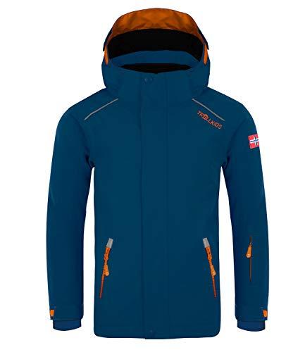 Trollkids Holmenkollen Pro Veste de Ski Enfant, Mystic Blue/Orange Taille Enfant 116 2019 Veste Polaire