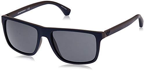EMPORIO ARMANI 523087 Gafas de sol, Top Blue/Brown Rubber, 56 mm para Hombre