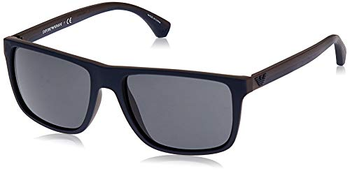 Emporio Armani 523087 Gafas de sol, Top Blue/Brown Rubber, 56 para Hombre