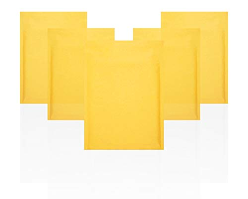 Amiff Kraft Bubble Mailers 6x9 Padded Envelopes 6 x 9 Pack of 10 Kraft Paper Cushion Envelopes. Peel & Seal. Mailing, Shipping, Packing and Packaging.