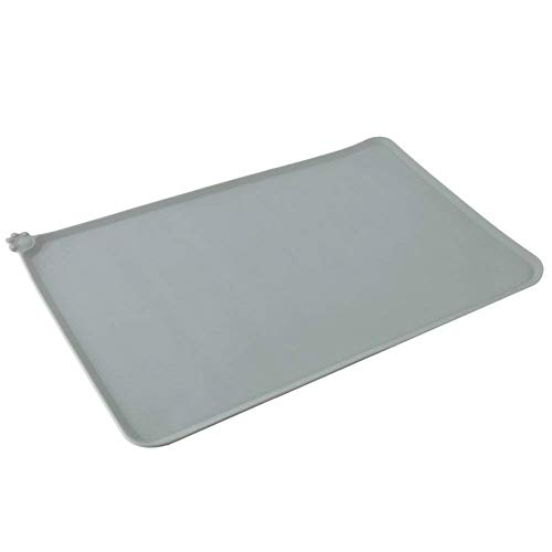 Hosaire 1x Pet Food Mat Tazón Impermeable no tóxico