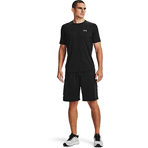 Under Armour Men's Raid 2.0 Workout Gym Shorts , Black (001)/White , X-Large