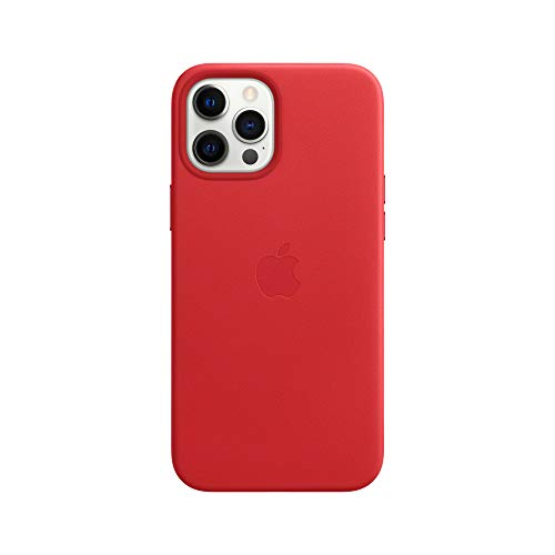 Apple Leather Case with MagSafe (for iPhone 12 Pro Max) – (PRODUCT)RED