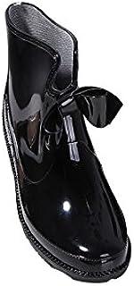 [VONSU] レインブーツ レディース レインシューズ ロング 長靴 雨具 防水 リボン カジュアル 23/23.5/24/24.5/25 ブラック/ベージュ/ワインレッド