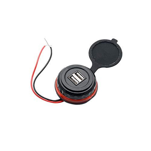 Maso - Toma de corriente para coche, impermeable, de doble puerto, para coche, motocicleta, USB, adaptador de corriente, salida DC12 V, 3,1 A
