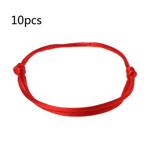 10Pcs rouge tressé en cuir Hamsa Main Lucky Eye Bracelets Bangle for good luck