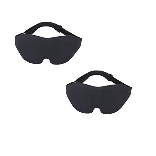 3D Schlafaugenmaske ohne Nasenabschnitt Männer und Frauen Blackout Augenmaske Konkave Augenmaske 2 Sätze
