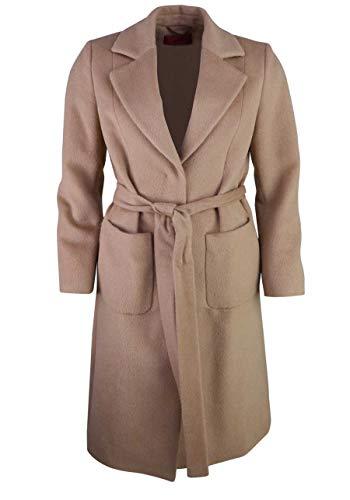HUGO Damen Mesua Wollmischungs-Mantel, Light/Pastel Brown236, 34