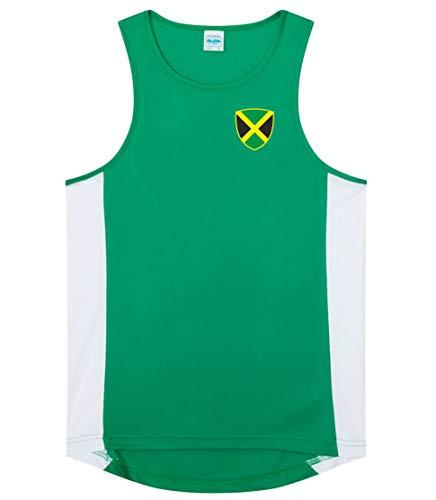 Nation Jamaika Trikot Top Ärmellos Training ATH BR-GR (XXL)