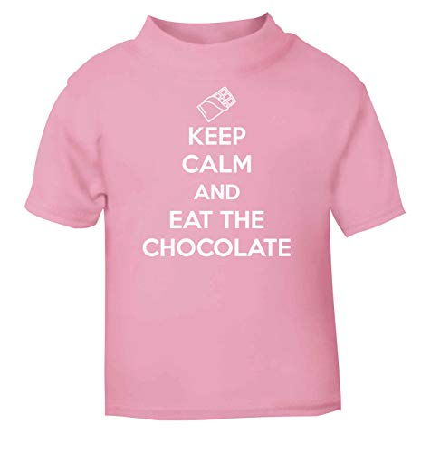 Flox Creative T-shirt pour bébé Keep Calm and Eat The Chocolate - Rose - 2 ans