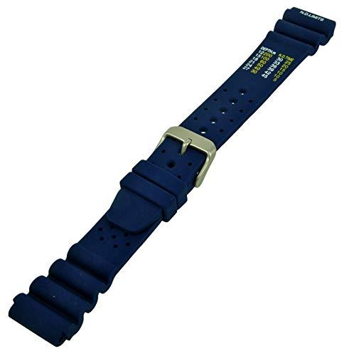 Kautschuk Uhrenarmband Passend Citizen Promaster Armband N.D.Limits Uhrband Blau 20mm