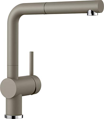 BLANCO LINUS-S – Kitchen Mixer Tap in SILGRANIT Look with Pull-out Spout – High Pressure – Brown – 520747