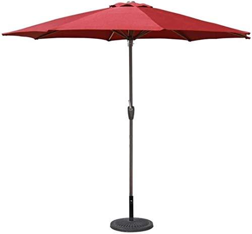 MISS KANG Paraguas para exteriores de 2,7 m, estilo de mercado para balcón, mesa, terraza, jardín, terraza, terraza, patio, piscina o piscina, 8 Qingchunw (color: rojo, tamaño: 270 cm)