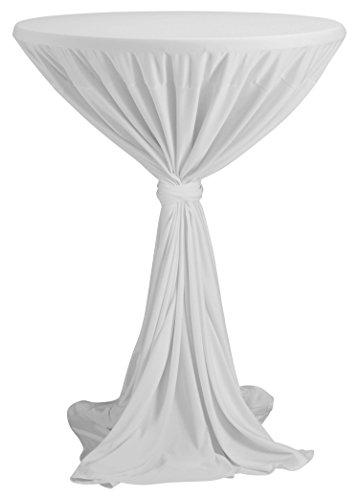 PREISHIT - Stehtischbezug, weiß   passend für Tische Ø 80 - 90 cm