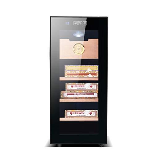 Humidores Caja De Exhibición De Cigarros Caja De Cigarros Pequeña Silenciosa E Hidratante para El Hogar Gabinete De Cigarros con Termostato, Capacidad para 150 Cigarros