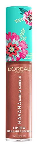 L'Oréal Paris Gloss Idratante Labbra, Gloss Havana Lip Dew Lit Up, Havana Camila Cabello Limited Edition, Finish Lucido