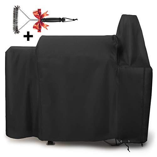 SHINESTAR 820 Form-Fitted Pellet Grill Cover for Pit Boss 820 Series, Special Zipper Design, Easy Take On & Off, Heavy Duty Fabric Weatherproof