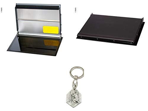 Zisa-Kombi Wallas 932988707100 - Placa vitrocerámica y calefactor, color negro Cristóbal