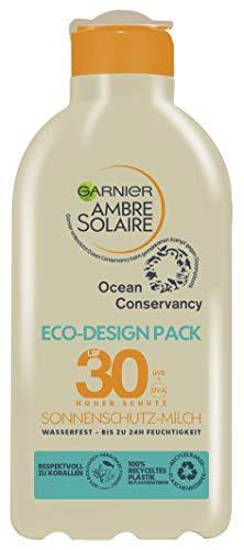 Garnier Sonnenschutz-Milch mit LSF 30 & Eco-Design Pack, schützt vor UVA-, UVB-Strahlung, wasserfest, nicht fettend, nachhaltig verpackt, Ambre Solaire, 200 ml