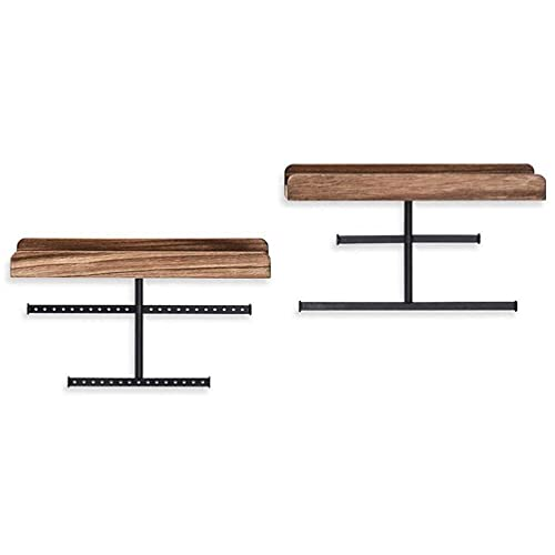Abcidubxc Juego de 2 soportes de pared para colgar joyas organizadores con estante de madera