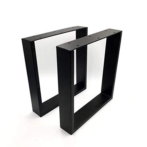 Tischgestell Tischkufen in 43cm x 30 cm,2 Stück Sitzbank Gestell Beine Couchtisch Schwarz