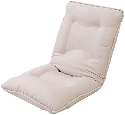 Verstellbarer 6-Positionen-Bodenspiel-Sofastuhlkissen Klappbarer Lazy Couch Beds Lounge Chair (Farbe: Beige)
